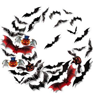 3D Bats Wall Stickers Halloween Decals